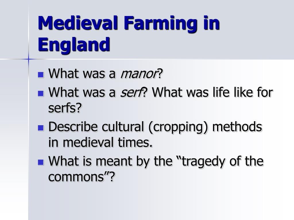 Medieval Farming in England