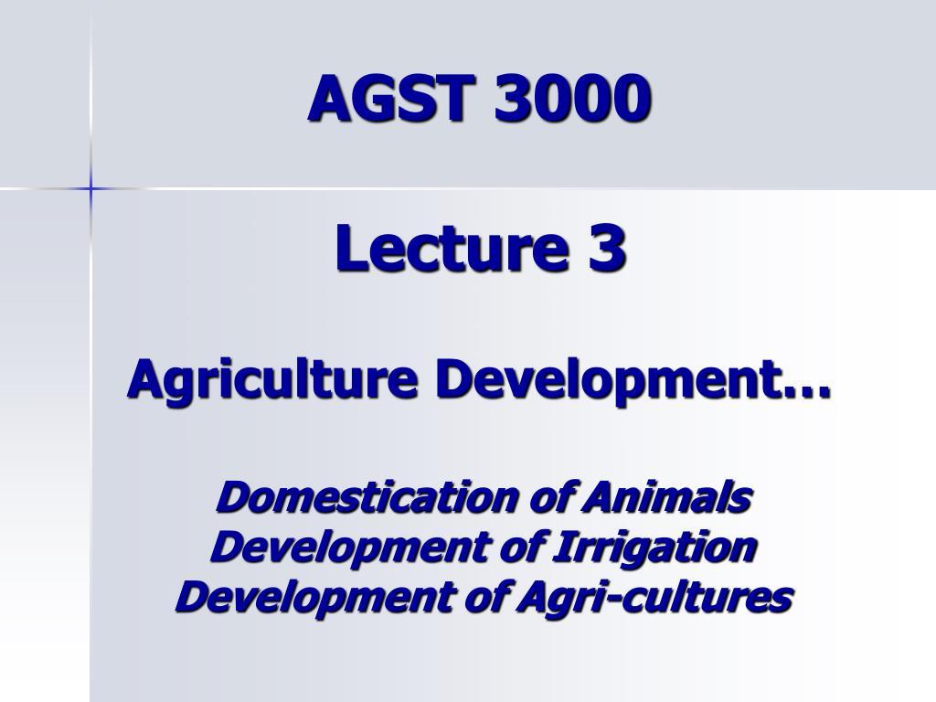 AGST 3000