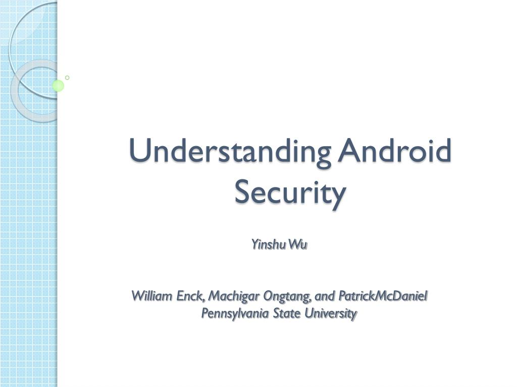 understanding android security l.