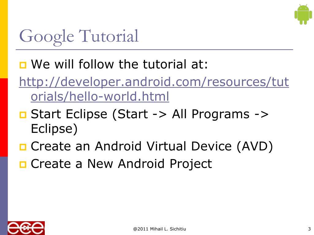 Google Tutorial