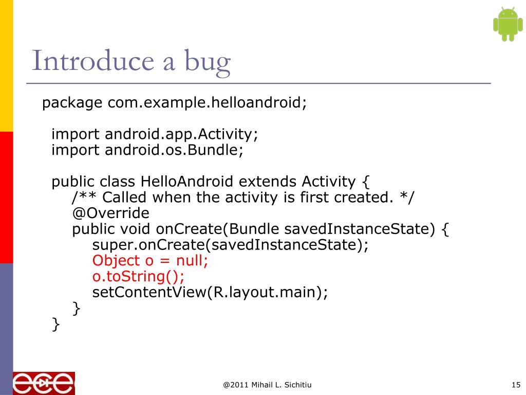 Introduce a bug