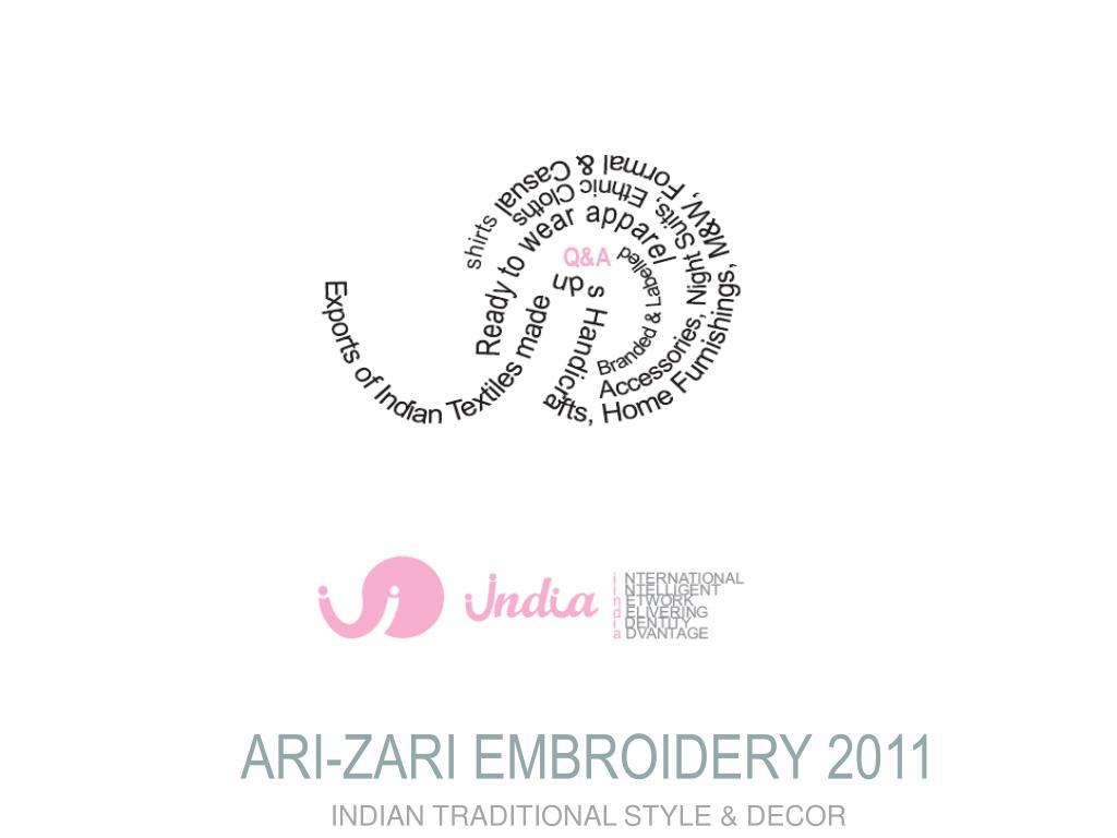 ARI-ZARI EMBROIDERY 2011