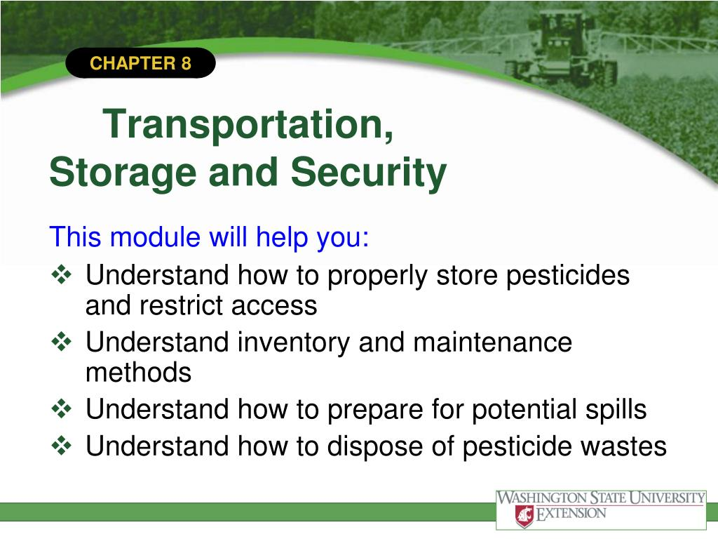PPT - Transportation, Storage, and Security PowerPoint