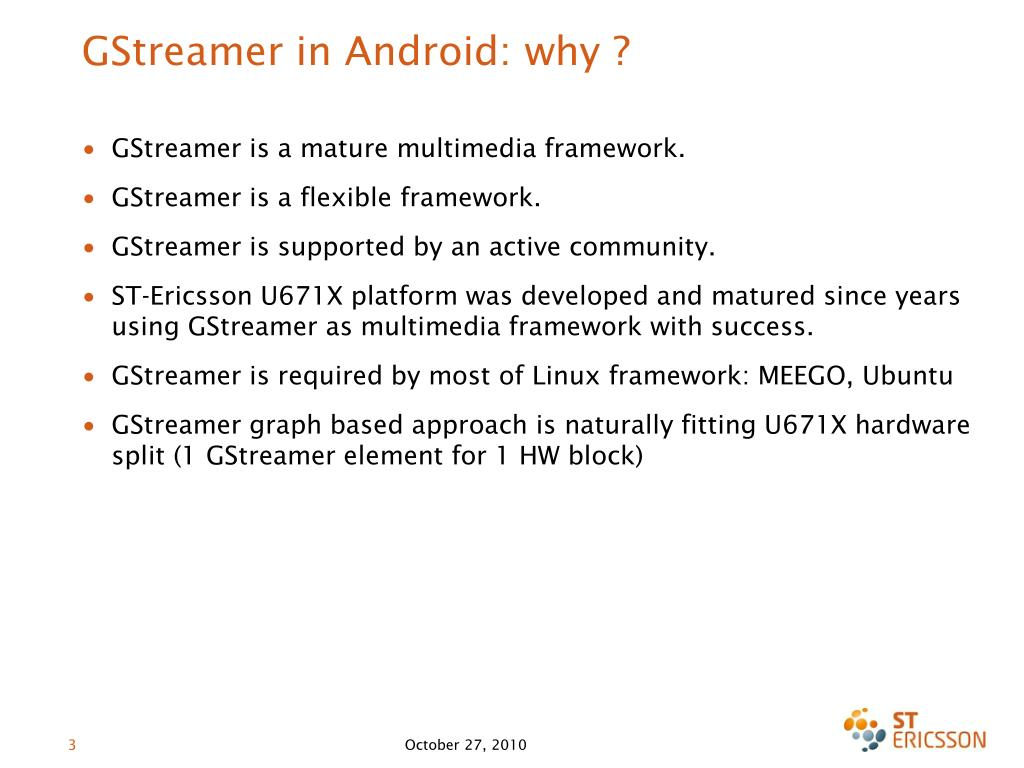 GStreamer in Android: why ?