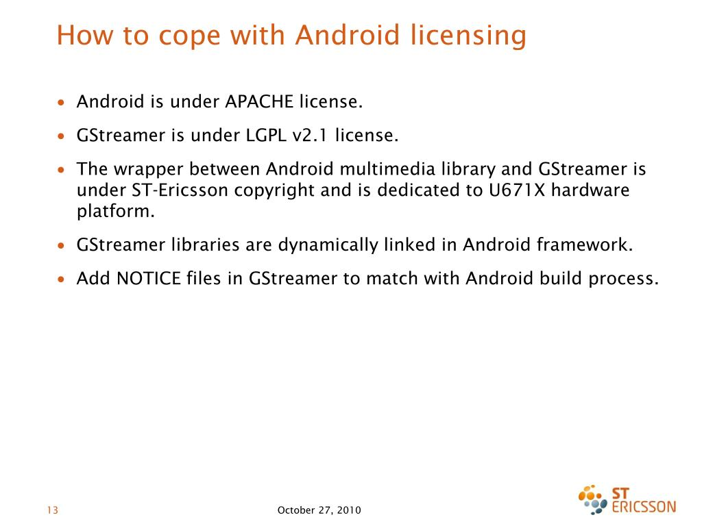 PPT - GStreamer as multimedia framework in Android: a new