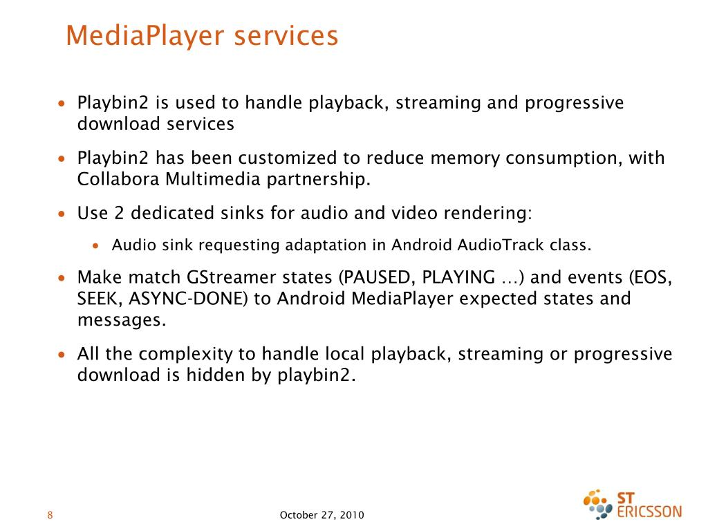 MediaPlayer services