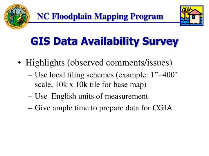 Gis data availability survey1