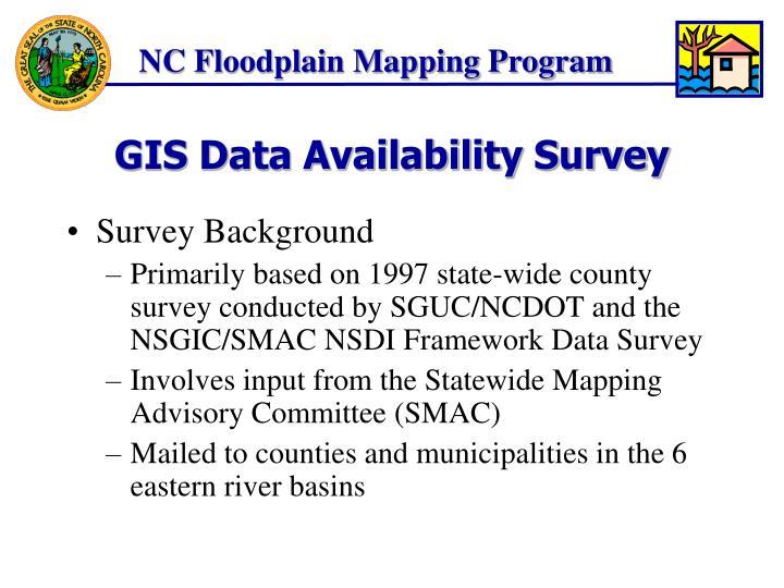 Gis data availability survey2