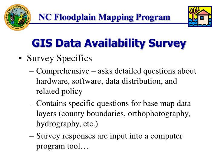 GIS Data Availability Survey