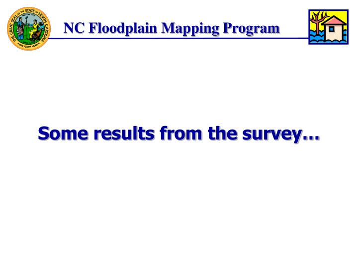 Some results from the survey…