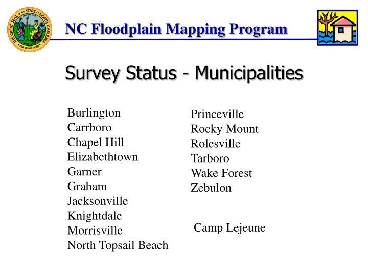 Survey Status - Municipalities
