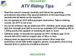 atv riding tips