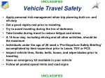 vehicle travel safety