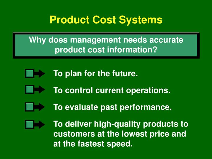 Product Cost Systems