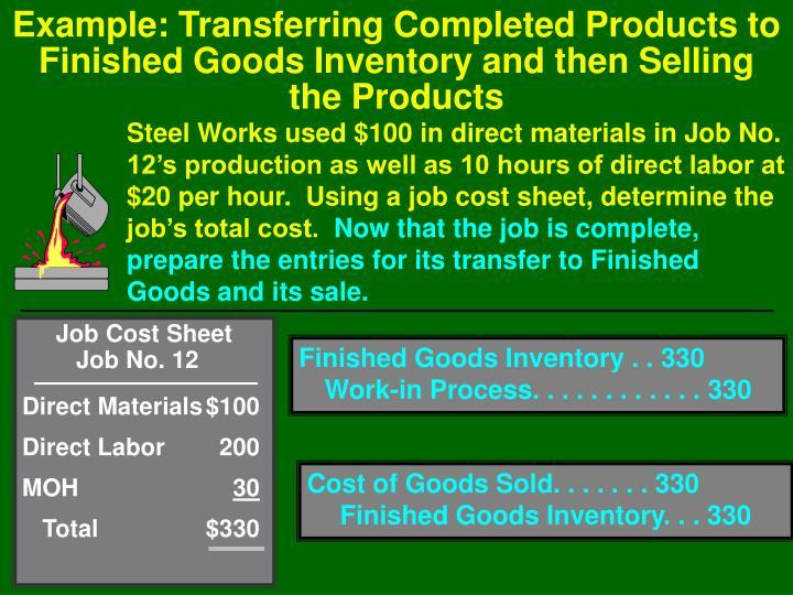 Job Cost Sheet