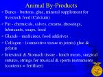 animal by products