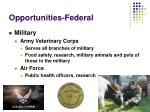 opportunities federal17
