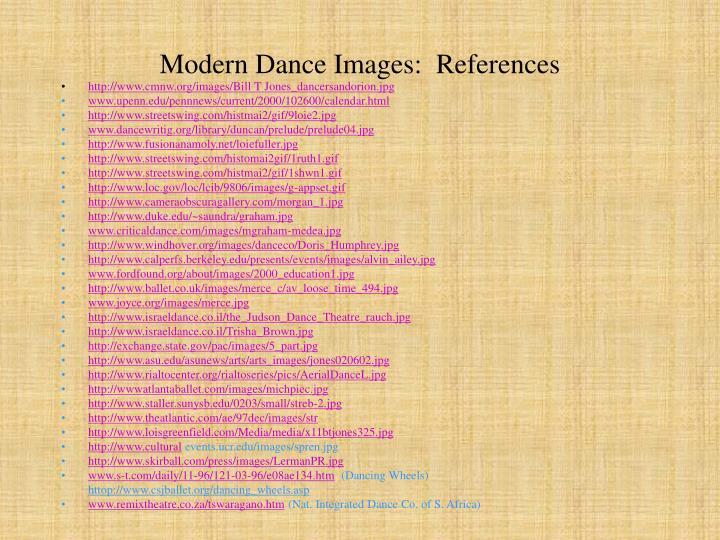 Modern Dance Images:  References