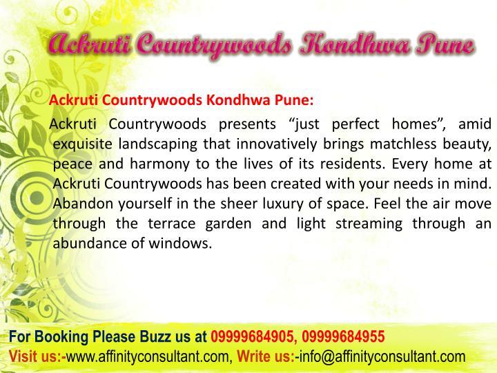 Ackruti countrywoods kondhwa pune3