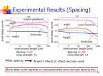 experimental results spacing