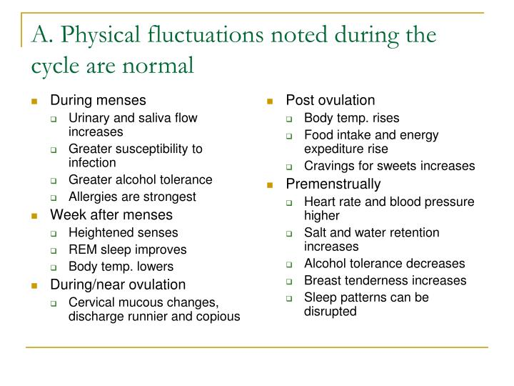 A physical fluctuations noted during the cycle are normal