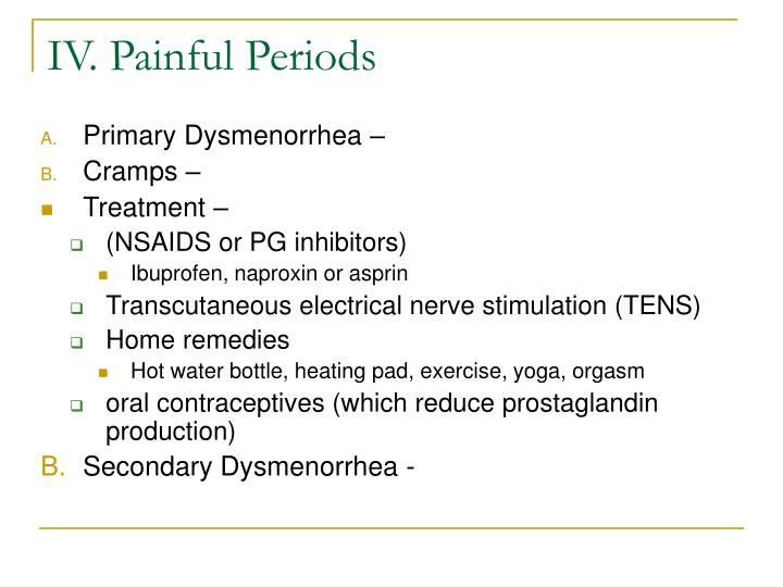 IV. Painful Periods