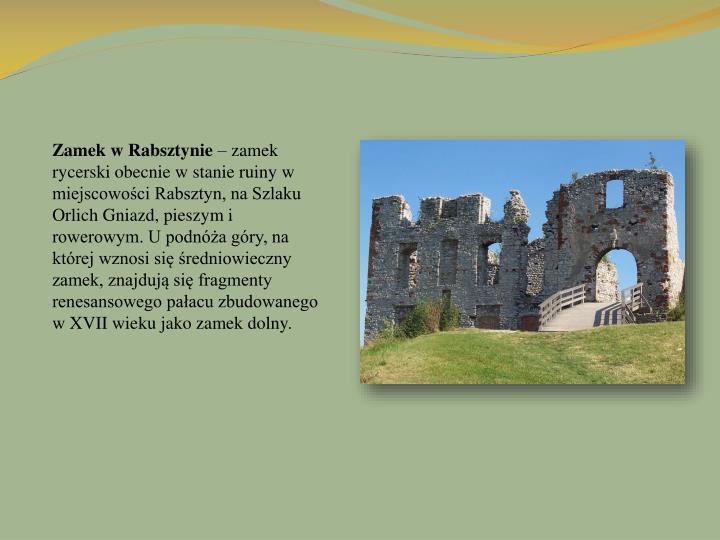 Zamek w Rabsztynie