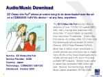 audio music download