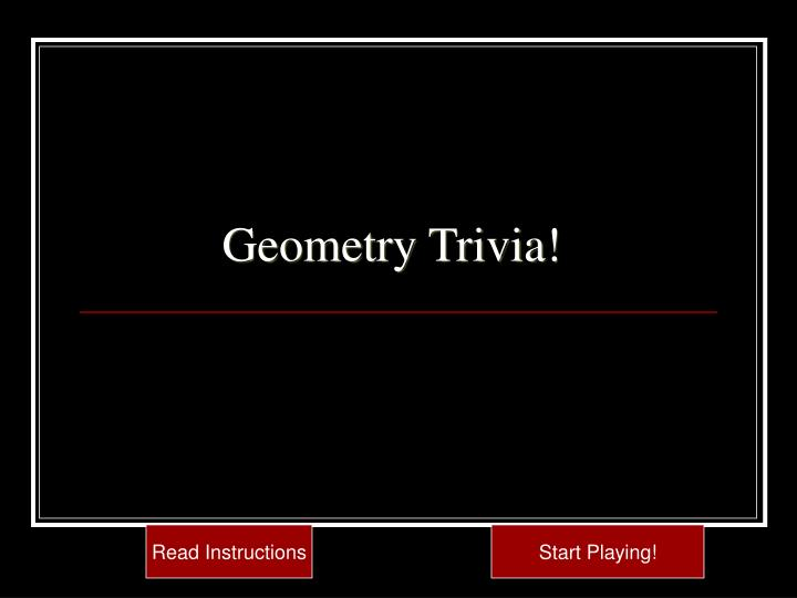 Ppt  Geometry Trivia Powerpoint Presentation  Id