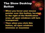 the show desktop button