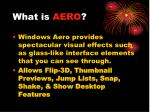 what is aero