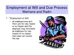 employment at will and due process werhane and radin