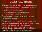 design assumptions