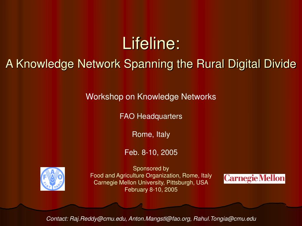 lifeline a knowledge network spanning the rural digital divide l.