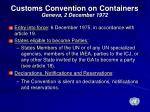 customs convention on containers geneva 2 december 1972