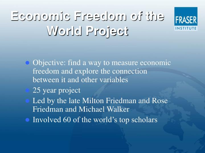 Economic freedom of the world project