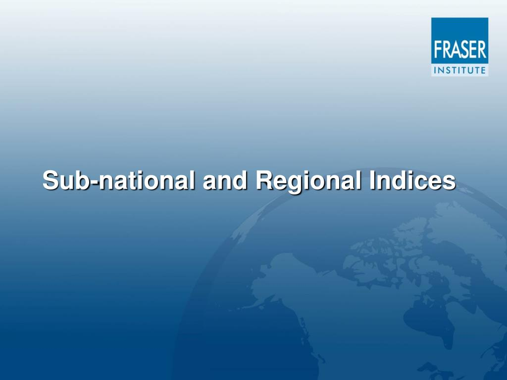 Sub-national and Regional Indices