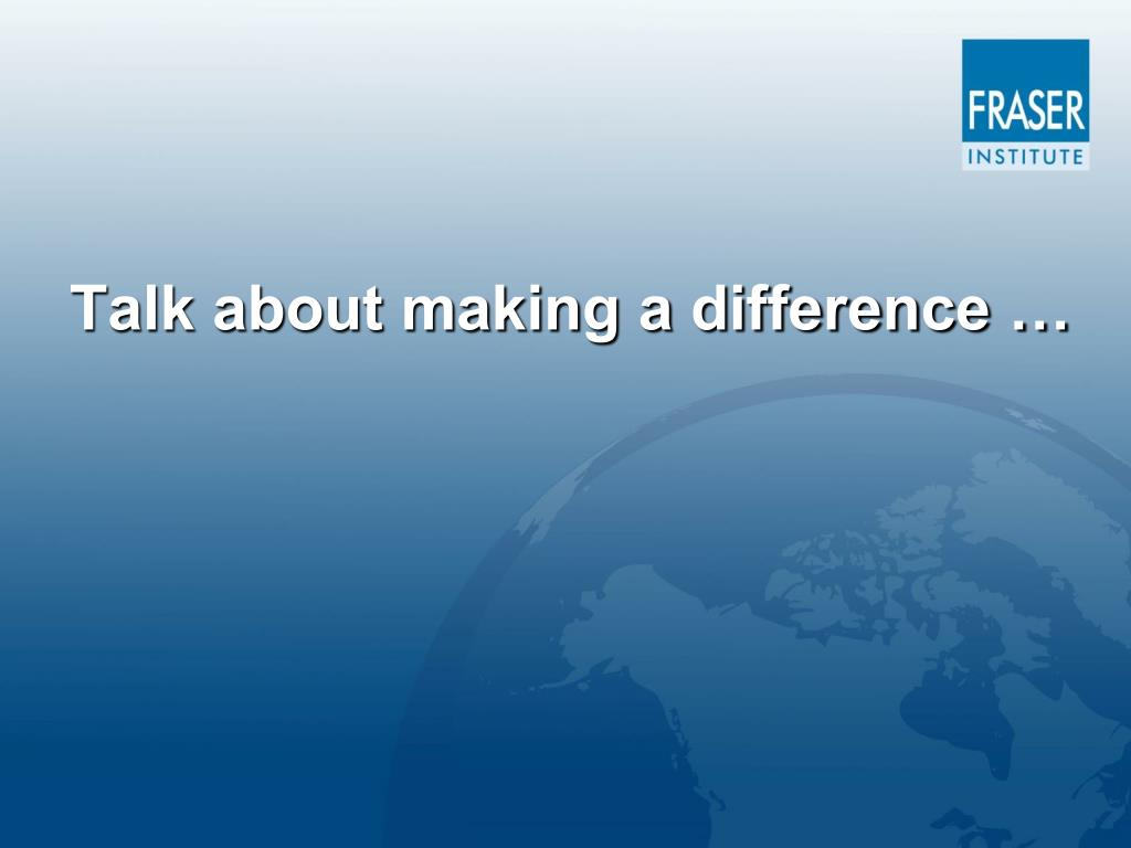 Talk about making a difference …