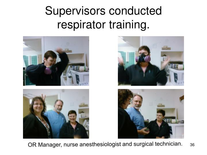 Supervisors conducted