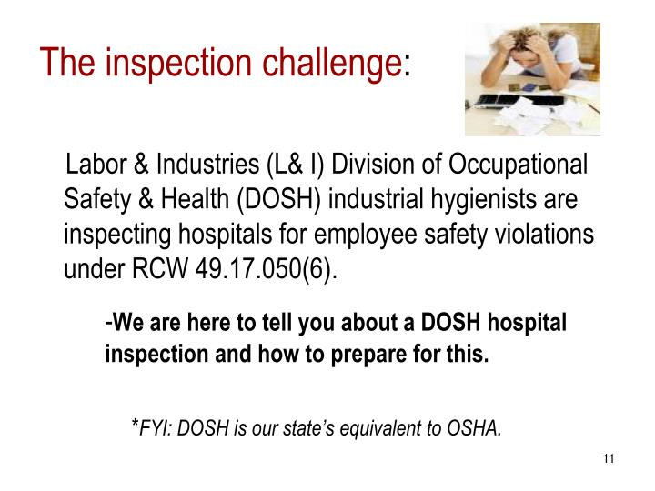 The inspection challenge