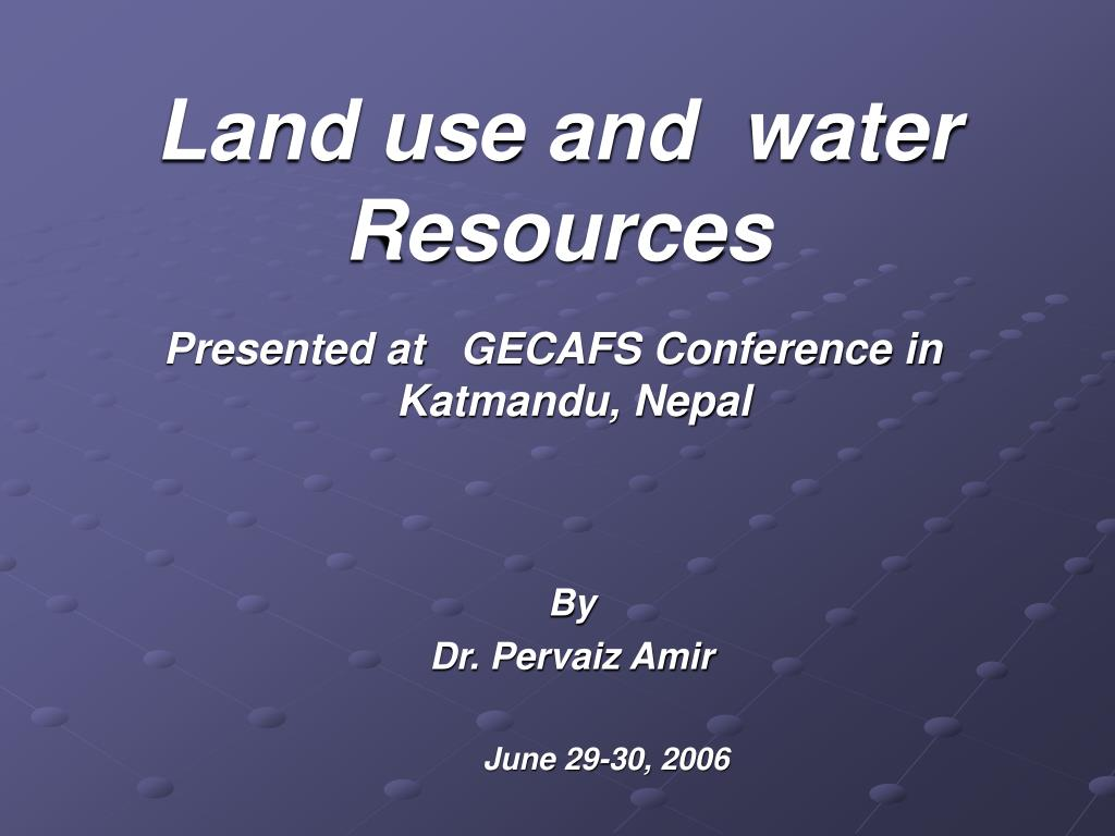 land use and water resources l.
