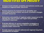 objectives apn project