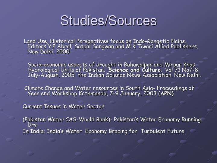 Studies sources