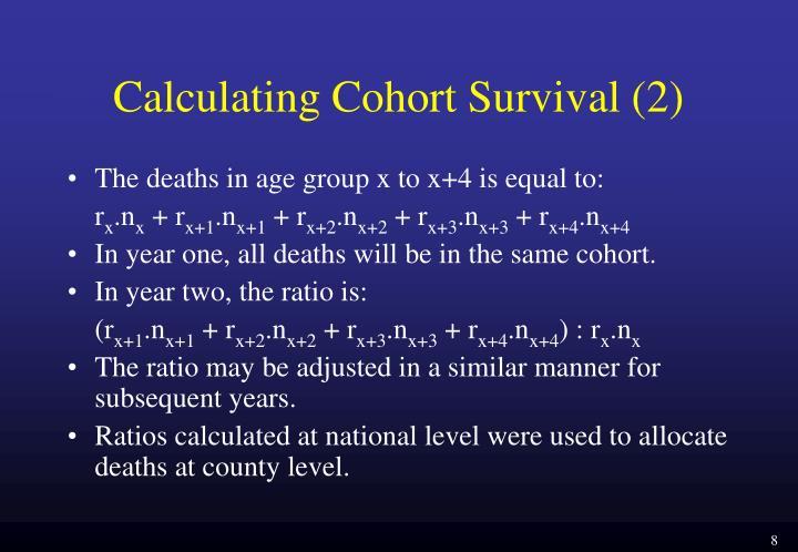 Calculating Cohort Survival (2)