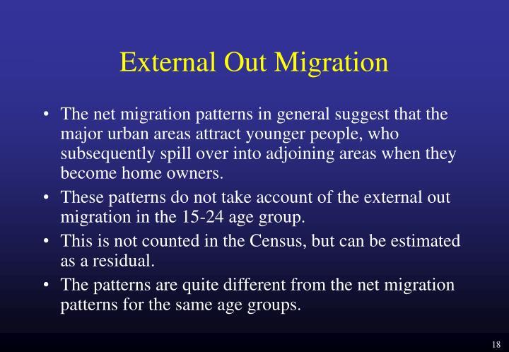 External Out Migration