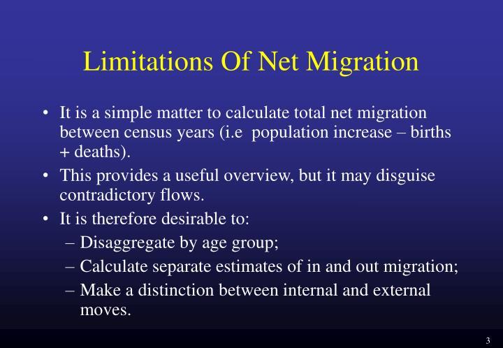 Limitations of net migration