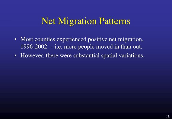 Net Migration Patterns