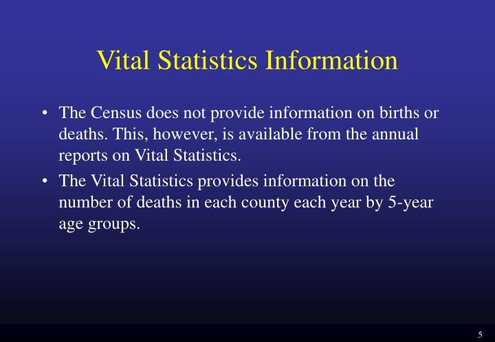 Vital Statistics Information