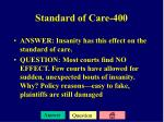 standard of care 400