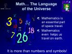 math the language of the universe